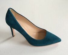 $245  NEW JCrew Everly Suede Pumps Size 5 Dark Teal Green Blue Womens Shoes