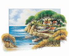 Jong: A sailors tranquility Strand Meer Bild 40x50 mediterran
