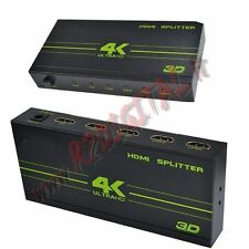 HDMI 4 PORTE 4K 1080p 3D SPLITTER FULL HD TV SDOPPIATORE SWITCH ALIMENTATORE