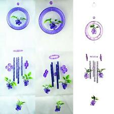 Lovely Grapes Crystal 4 Metal Tubes Windchime Wind Chime Home Garden Decor YU