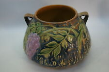ROSEVILLE POTTERY WISTERIA ART POTTERY JARDINIERE 242-4 BLUE ANTIQUE 1937 LABEL