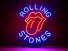 "Rolling Stones Sticky Fingers Man Cave Real Glass Handmade Neon Sign 17""x14"""