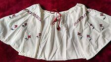 Ukrainian embroidered blouse, vintage 1950-1960, girl 2-3y, handmade, Ukraine