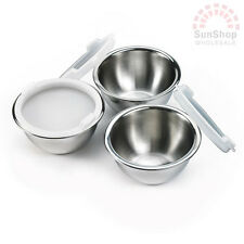 100% Genuine! MASTERCHEF Stainless Steel Prep Mixing Bowls with Lids Set of 3!