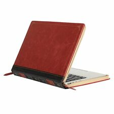 Apple Macbook Air/Pro 13 Case Vintage Leather Zipped Book Antiscratch Slim New