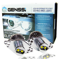 GENSSI 20W+ Angel Eyes Halo LED Bulbs White 7000K For BMW E90 E91 3 Series 09-11