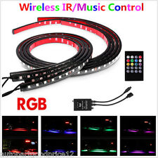 4Pcs Music Control RGB LED Strips Under Car Tube Underglow Underbody Neon Lights