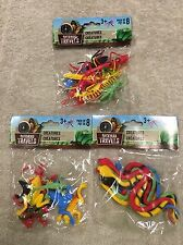 Backyard Travels 24 Pcs Of Different Creatures- Snakes Frogs Insects Bugs