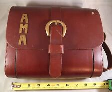 Vintage Thom Hird Original Leather Purse Solid Brass Initial: AMA