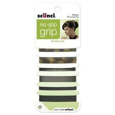 Scunci No-Slip Grip Stay Tight Barrettes 6 ea