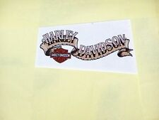 HARLEY DAVIDSON MOTORCYCLES BANNER BAR & SHIELD INSIDE Windshield Decal Sticker