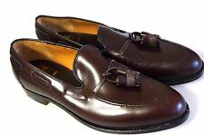 NEW $400 Church's ROYAL TWEED Cheaney-11.5D-Burgundy Tassel Loafer-BENCHMADE