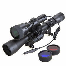 Tactical 3-9x40 Scope + C8 Cree XML T6 Single Mode Flashlight + Red Laser Set