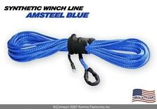 BLUE KFI PRODUCTS Synthetic ATV Winch 12 ft Plow Cable Rope  FREE SHIP