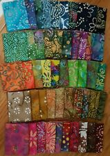 Lot of 50 fat quarters, No Duplicates, 100% BATIK Cotton Quilting Fabric, #B5
