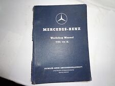 Mercedes-Benz Workshop Manual Type 300 SL Gullwing-Original