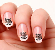 20 Nail Art Decals Transfers Sticker #137 -  Tiger peel & stick