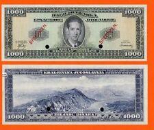 Yugoslavia 1000 DINARA 1949.-1950.London UNC - Reproductions
