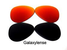 Galaxy Lentes De Repuesto Para Ray Ban RB3025 Aviador negro y rojo 62mm
