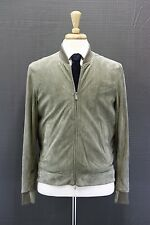 NWT $5895 Brunello Cucinelli Men's 100% Leather Suede Perforated Bomber Jacket M