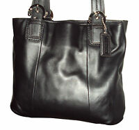 COACH SOHO LEATHER NORTH SOUTH TOTE F17216 BLACK RETAILS $378 NWT