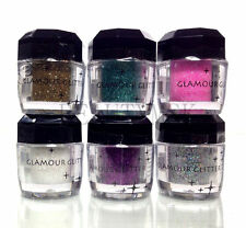 BEAUTY TREATS Set 6 Pc Glamour Glitter Pro Eyeshadow Body Nail Loose Pigment