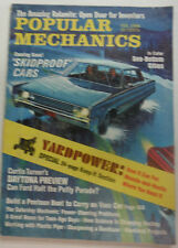 Popular Mechanics Magazine Skidproof Cars & A Pontoon Boat February 1968 043015R