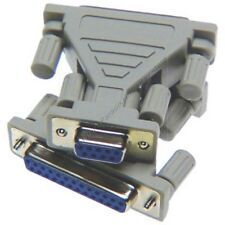 Lot10 DB25~DB9pin Female~F Jack cable/cord/wire/port Adapter RS232 Serial$SHd{TT