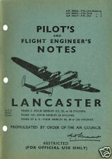 PILOT+FLIGHT ENGINEER'S NOTES: LANCASTER BOMBER 62pps +FREE 2-10 PAGE INFO PACK