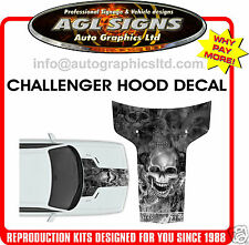 2011 2012 2013 2014 DODGE CHALLENGER HELL RIDER HOOD DECAL, GRAPHIC, STRIPE
