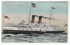 "[62900] OLD POSTCARD STEAMER ""CAYUGA"" ON ROUTE OF NIAGARA RIVER LINE"