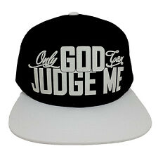 ONLY GOD CAN JUDGE ME BLACK/WHITE (FLOCK) Snapback Cap