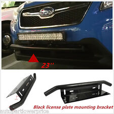 "23"" Bull Bar Front Bumper License Plate Mount Bracket Holder For Working Lights"