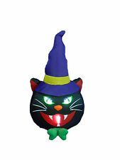 Halloween Inflatable Yard Party Air Blown Blowup Decoration Black Cat Witch Hat