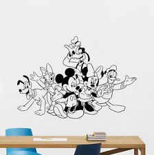 Mickey Minnie Mouse Donald Goofy Pluto Wall Decal Vinyl Sticker Art Mural 111crt