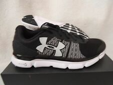 NIB MENS UNDER ARMOUR MICRO G SPEED SWIFT SNEAKERS~RUNNING SHOES~SIZE 10~black
