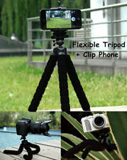 New Octopus Adjustable Universal Tripod + Phone Holder for iPhone Samsung Black