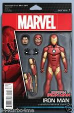 Marvel Comics INVINCIBLE IRON MAN #1 ACTION FIGURE Variant (2015) 1st Printing