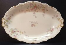 Limoges Serving Platter Early1900s  France De'pose' with Pink Rose Garland Swags