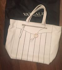 Genuine Varriale Women's Italian Designer Leather Handbag Tote White