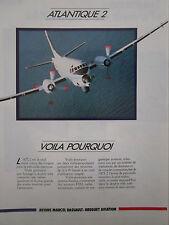 11/1989 PUB DASSAULT BREGUET AVIATION ATLANTIQUE 2 MARINE NATIONALE FRENCH AD
