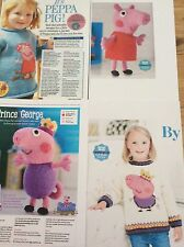 GEORGE  PIG AND PEPPA PIG  JUMPER  and TOY KNITTING PATTERNS SPECIAL OFFER!