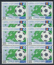 Zypern 788 postfrischer Viererblock / Fußball ..................................