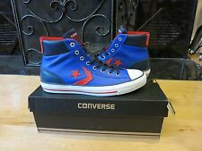 Converse Cons Star Player EV 139865C Unisex Blue Leather Mid Sneakers Shoe Men 9