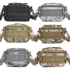 Men Canvas Molle Pouch Shoulder Carrier Outdoor Sports Waist Belt Wallet Bag