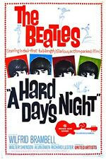 A HARD DAY'S NIGHT vintage movie poster THE BEATLES music JOHN LENNON 24X36