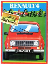 Renault 4 Estate 1982-83 Irish Market Foldout Sales Brochure TL GTL