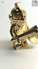 New Lego Gold Chrome Knight With Breastplate, Sword, And Shield