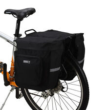 ROSWHEEL 30L Cycling Bicycle Double Side Rear Rack Tail Seat Bag Double Pannier