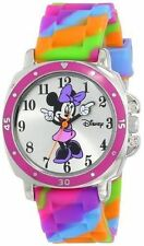 Disney Kids Girl Minnie Mouse Pink Wrist Watch Sweet Colorful Rubber Band Gift